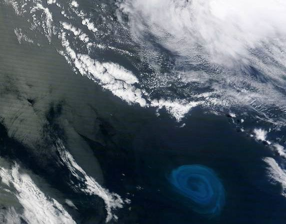 Underwater Tornado Seen from Space Eddy_NASA-Earth-Observatory-