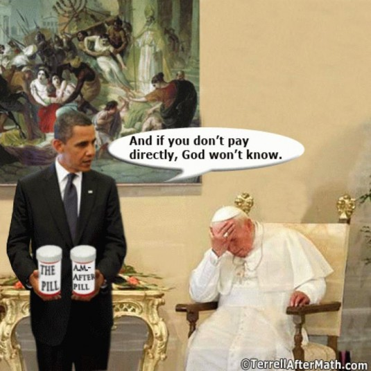 Obama, Pill, Morning After Pill, Catholic, Church, Mandate, ObamaCare, Sacking Rome And Pope